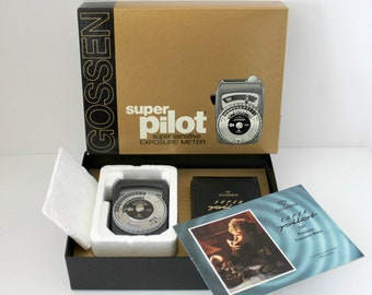 Vintage Gossen Super Pilot Exposure Light Meter in Box, Camera Meter, West Germany