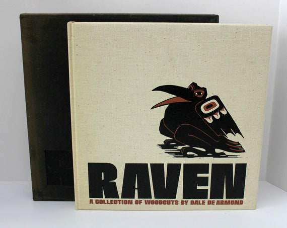 Raven Collection of Woodcuts Art Book by Dale De Armond, Signed Numbered Limited Edition 19/1250