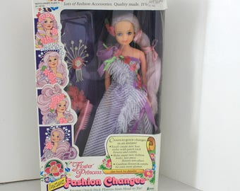 1985 Flower Princess Doll, Rare Creata Lisette Ver. 1 Instant Fashion Changes,  MIP NOS in Box