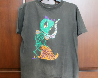1987 Oingo Boingo Halloween T Shirt Skeleton, Vintage New Wave Music