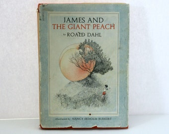 1961 James and the Giant Peach Book HC DJ 1st Edition 2nd Printing Dahl