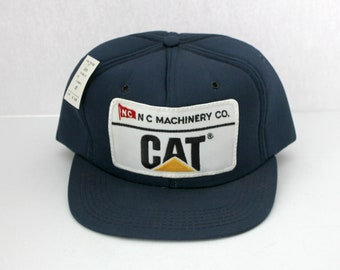 Cat NC Machinery Caterpillar Vintage Tractor Hat Cap, Snap Back, NOS with Tag, Tonkin USA