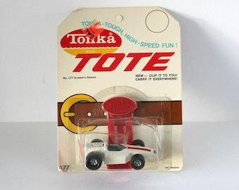 Vintage Tonka Tote 177 Scream'n Demon Car Sealed MOC, Clip and Carry 1970s Race Car