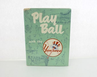 1952 Play Ball With The Yankees Recruiting Program Book | Mickey Mantle Joe DiMaggio Collins