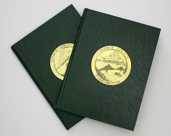 Pierce County WA 2 Volume Book Set History Pictures Family Photos Washington State PNW