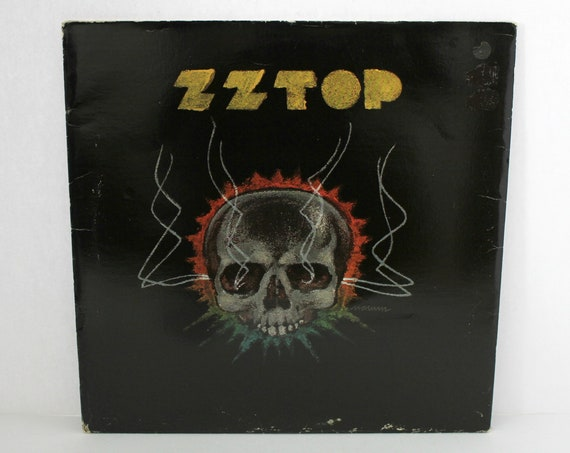 Rare ZZ Top Promo LP Deguello w/ Black Skull Cover Record Album 1979