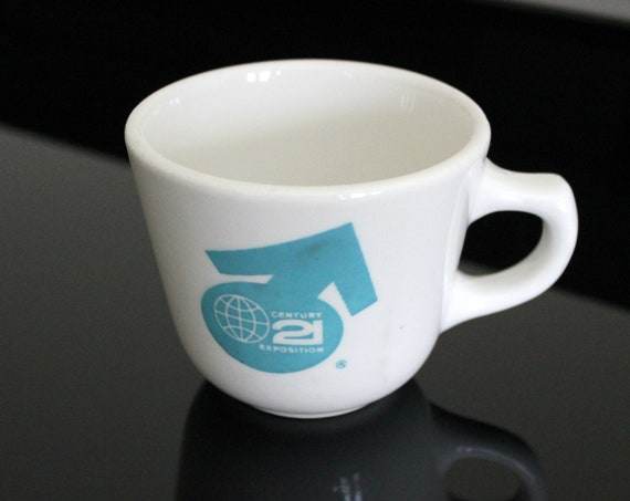 1962 Seattle World's Fair Cup | Century 21 Exposition | Bargreen's Coffee | Homer Laughlin China