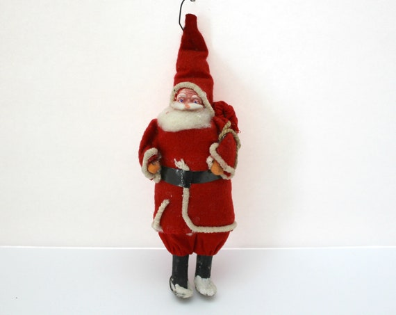 Antique Belsnickle Santa Claus Figure, 1930s Christmas Ornament