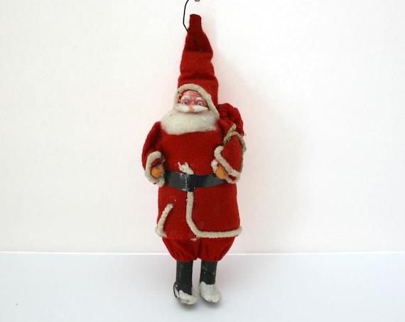 Antique Belsnickle Santa Claus Figure, 1930s Christmas Ornament