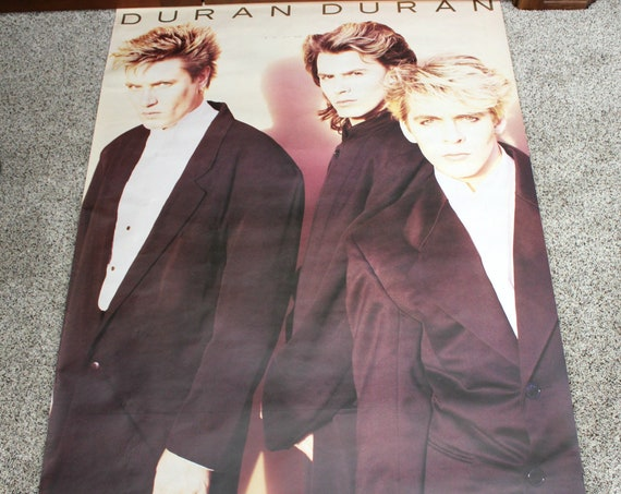 1987 Duran Duran Poster, Vintage Huge Store Promo Advertising