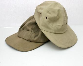 Lot 2 Vintage Imperial Baseball Caps Hats, Brown Beige Mens Hats