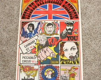 Swinging Sixties I Was Lord Kitchener's Valet Poster 1960s Vintage Britain London England Twiggy Mick Jagger