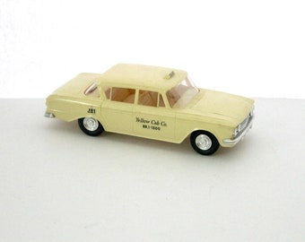 1962 AMC Rambler 400 Yellow Taxi Cab, Vintage Model Car Dealer Promo