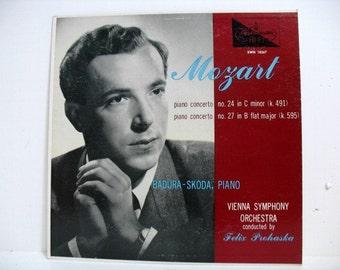 Mozart Piano Concertos by Badura Skoda LP Vinyl Record, Vienna Symphony Felix Prohaska Westminster XWN 18267 Classical Music