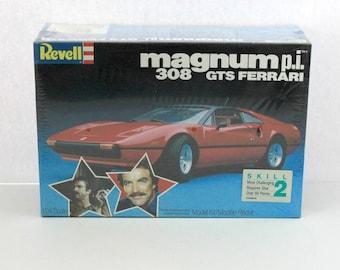 Magnum P.I. 308 GTS Ferrari Vintage Revell Sealed Model Kit 7378, 1982 MIB