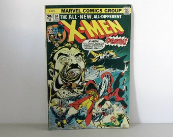 Vintage X-Men Marvel Comic Book 1975 Issue 94 August