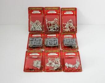 Vintage Lot of 9 Warhammer 40K Wargame RPG Figurines Sealed MOC Citadel Miniatures 1997