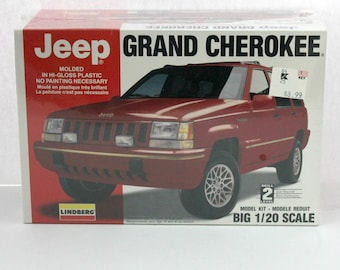 1994 Jeep Grand Cherokee Sealed Model Kit Lindberg 72518 1/20 Scale
