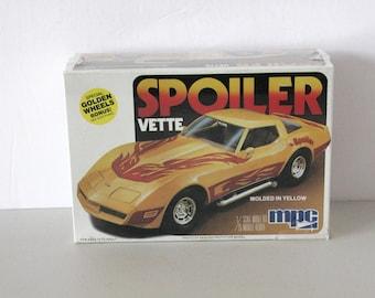 Vintage Spoiler Vette Corvette Sealed Model Kit 1979 1980s MPC 1-3713 1/25 Scale