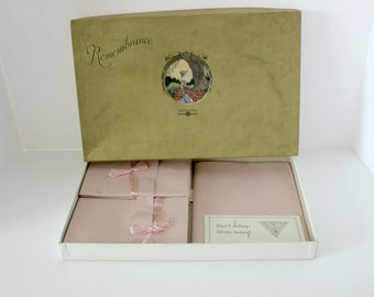 Vintage White & Wyckoff Remembrance Stationery Paper Box Set, Vintage 1920s