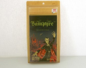 Vampyre RPG in Package, 1980 TSR Role Playing Game Mini, Vampire, Hunt For Dracula