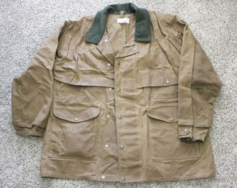 d73b1f57b9ded Filson Oil Finish Packer Coat Jacket 61N, Vintage Tin Cloth, Cotton Duck,  Size 48