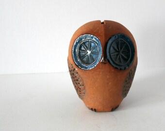Vintage Rorstrand Owl Bank Sculpture, 1960s Sweden Art Pottery