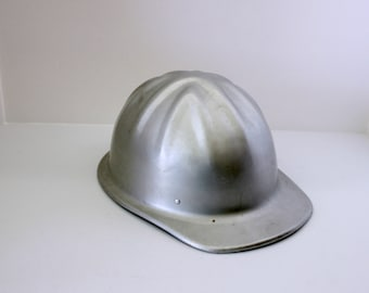 Vintage McDonald T Standard Cap Aluminum Hard Hat, 1950s Mine Safety Equipment