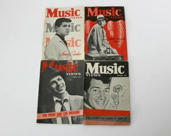 Music Views Magazine Lot of 4 1957 Frank Sinatra, Tommy Sands, Robert Mitchum, Dean Martin