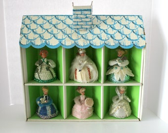 Lil Missy Doll Lot of 6 with Cardboard House, Vintage Little Missy Walco Holiday Happy Birthday, Her Royal Highness