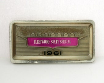 1961 Cadillac Fleetwood Sixty Special Dealer Showroom License Plate, Vintage Car, Auto