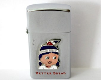 Vintage Miami Maid Better Bread Idealine Lighter Embossed Enamel 1950s