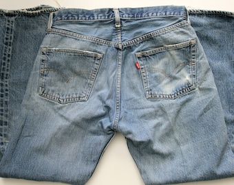 Vintage 1971 - 1978 Levi 501 Button Fly Jeans with Selvedge, Mens Denim