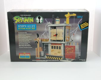 1994 Spawn Alley Action Play Set, NOS Mint Sealed in Box, Plus Comic Book, Todd McFarlane