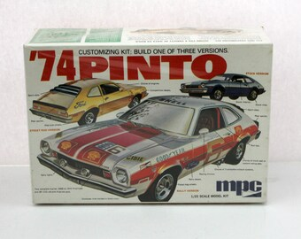 Rare 1974 Ford Pinto Sealed Model Kit MPC 1-7412-250 1/25 3 Versions