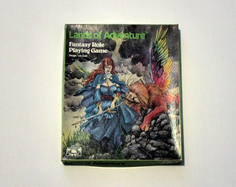 Lands of Adventure Fantasy Role Playing Game Complete in Box, Vintage 1983 RPG 5501 Lee Gold