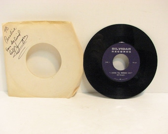 Vintage Bill Younger 45 rpm Record,  45RPM Rockabilly, Signed Bilvidar Private Label Vancouver EX
