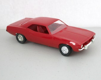 1974 Plymouth Barracuda Red Vintage Ertl Model Car Dealer Promo with Original Box and Stickers