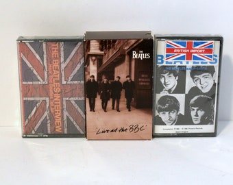 Beatles Cassette Tape Lot of 4 | 2 Sealed, Interview, Early Years | One Set Live at BBC