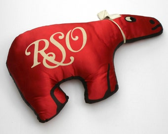 Vintage RSO Cow Promo Pillow, 1980s Record Store Music Advertising