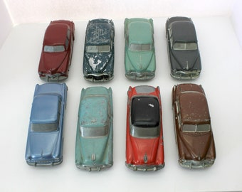Lot 8 Vintage Banthrico Dealer Promo Car Banks, 1950s Metal Cars