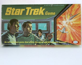 Vintage Star Trek Game, 1967 Ideal Toy, TV Series Board Game, Complete