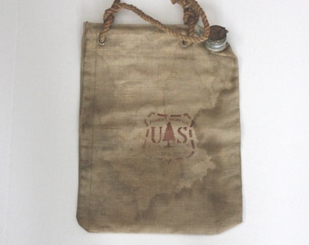 Vintage US Forest Service Ames Harris Neville Canvas Water Bag 1960s