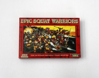 Vintage Epic Squat Warriors Citadel Miniatures Set in Box, Warhammer 40K, Complete, 10 Sprues Plus Bases for Adeptus Titanicus, Space Marine