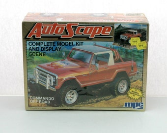 Vintage Autoscape Commando Sealed Model Kit Display Scene 1980s MPC 1-0912 1/25 Scale Stock and Custom Versions