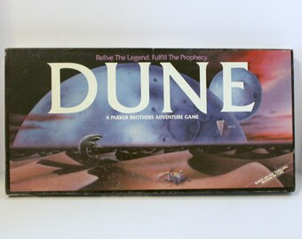 1984 Dune Board Game, Vintage Parker Brothers Sci Fi Adventure Movie Based