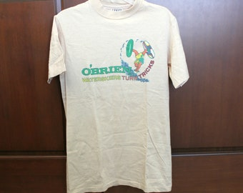 Vintage O'Brien Waterskiers T Shirt, Sport Waterskiing Turn Tricks