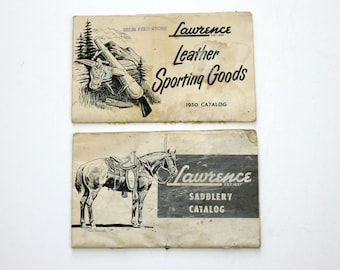 Vintage Lot 2 Lawrence Saddlery Leather Sporting Goods Catalogs | 1950 Saddle Belts Holsters