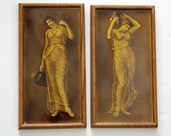Anique Minton England Porcelain Tiles Woman Jug 1880s