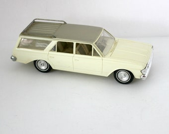 1964 Rambler Classic Cross Country Wagon Car, Vintage Friction Model Car Dealer Promo